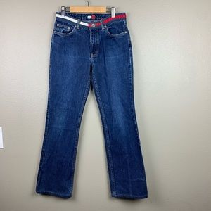 Tommy Hilfiger Jeans With Flag Waist & Flare
